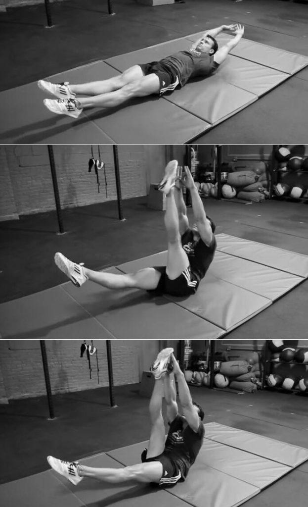 Alternating leg V-up
