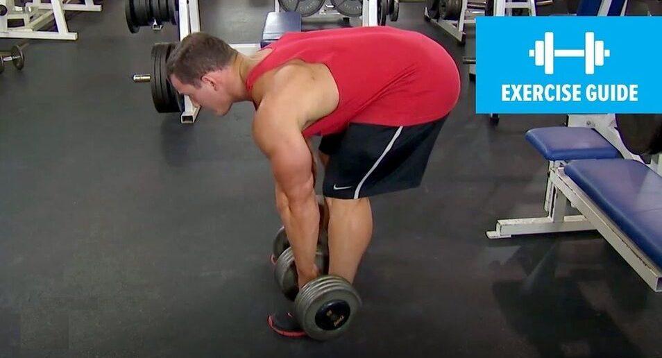 Dumbbell straight-leg deadlift exercise