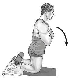 glute hamstring raise - heels under the rollers