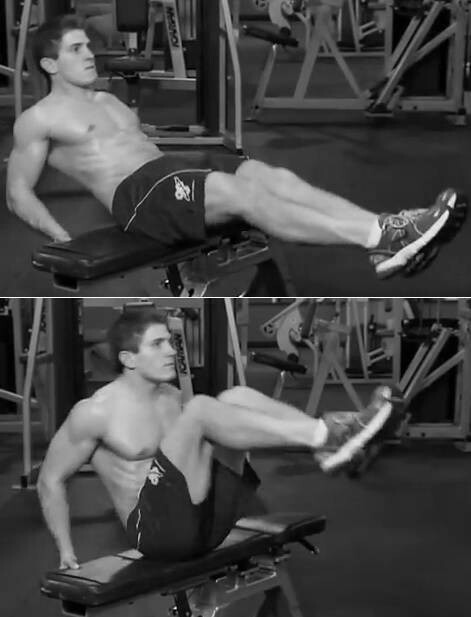 seated knee-up exercise variation