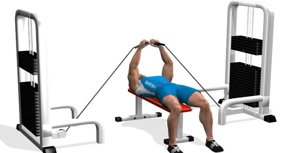 flat bench cable flyes exercise