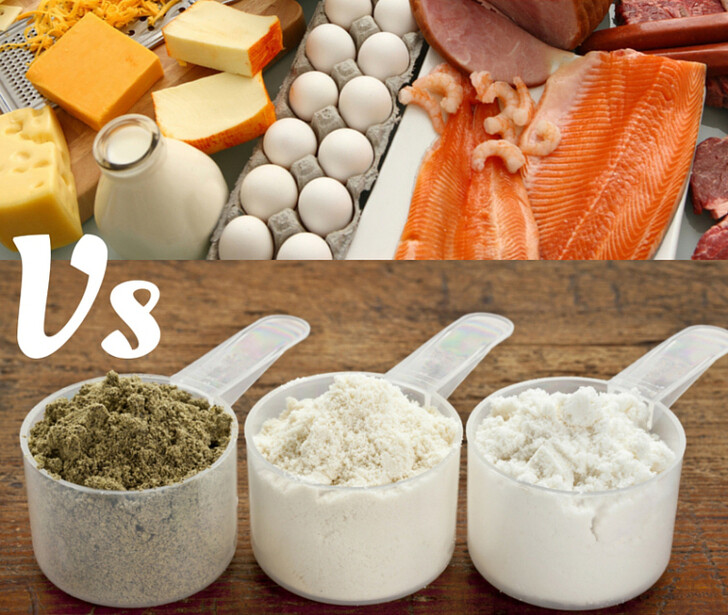 real protein foods versus protein shakes