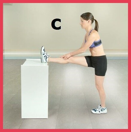 standing hamstring stretch - leg on table