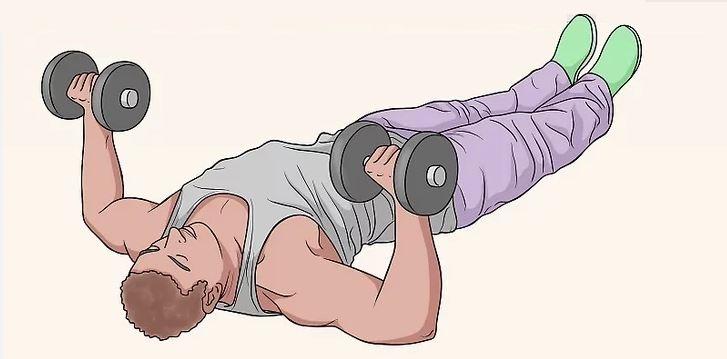 dumbbell floor press exercise