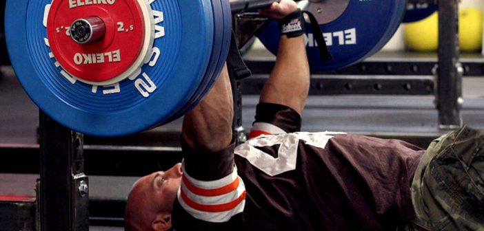 Barbell Floor Press Exercise